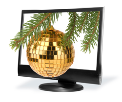 Computer Monitor with Ornament 250px