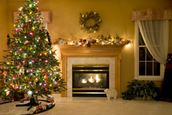 Living Room Decorated for Xmas 250px