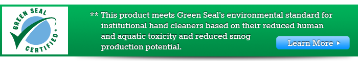 This product meets Green Seal's environmental standard...learn more